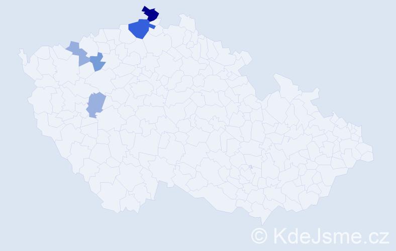 Příjmení: 'Denisovová', počet výskytů 12 v celé ČR
