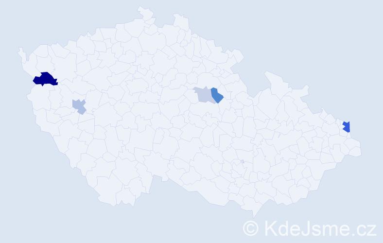 Příjmení: 'Fajtšák', počet výskytů 12 v celé ČR