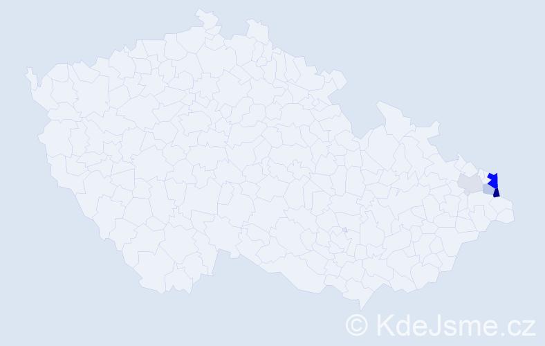 Příjmení: 'Iwaszek', počet výskytů 11 v celé ČR