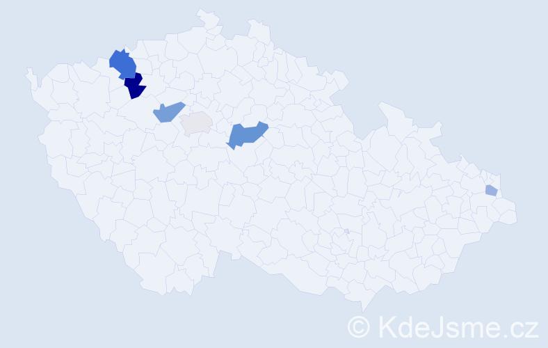 Příjmení: 'Emrle', počet výskytů 11 v celé ČR