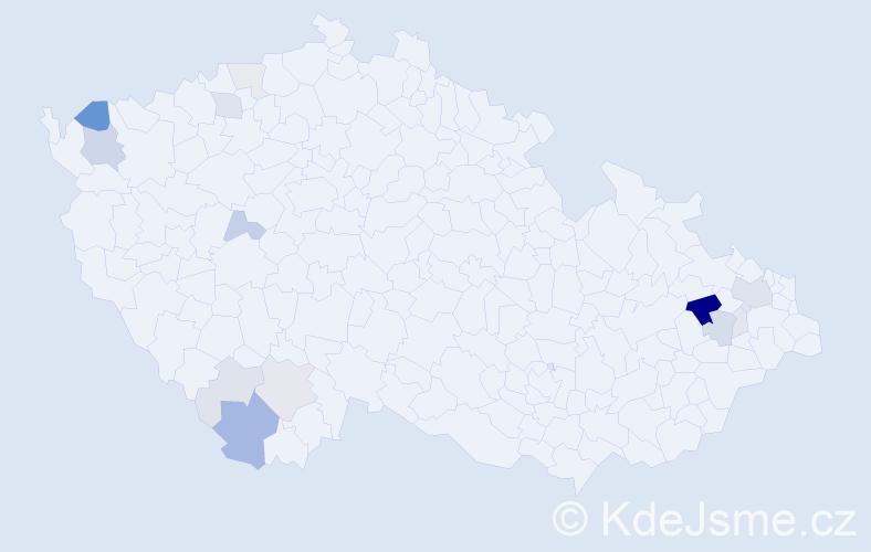 Příjmení: 'Bandura', počet výskytů 43 v celé ČR