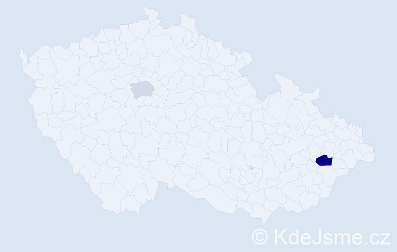 Příjmení: 'Habou', počet výskytů 2 v celé ČR