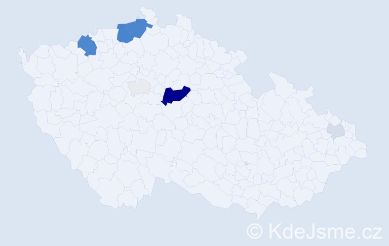 Příjmení: 'Gallert', počet výskytů 18 v celé ČR