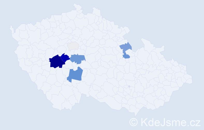 Příjmení: 'Demská', počet výskytů 17 v celé ČR