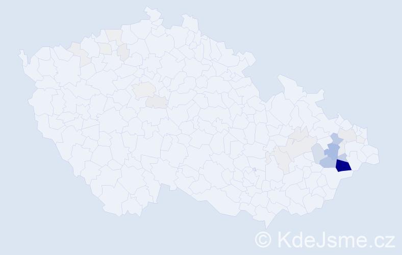 Příjmení: 'Kulišťák', počet výskytů 146 v celé ČR