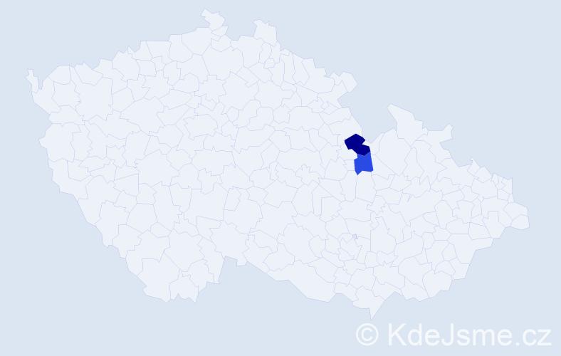Příjmení: 'Grunwaldová', počet výskytů 6 v celé ČR