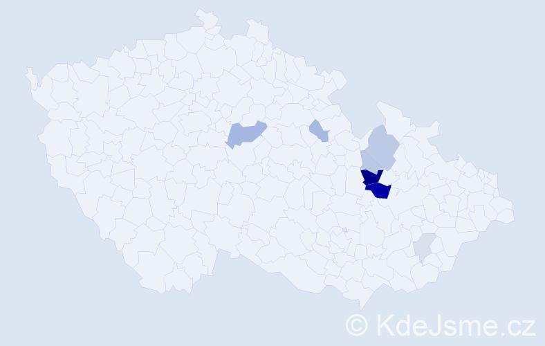 Příjmení: 'Hetcl', počet výskytů 19 v celé ČR