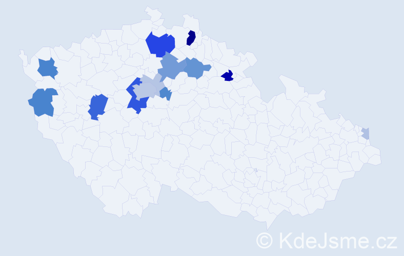 Příjmení: 'Halbych', počet výskytů 44 v celé ČR