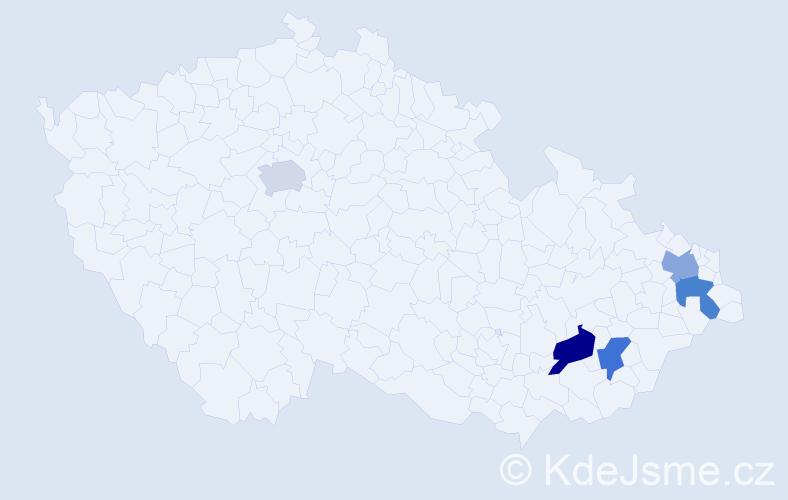 Příjmení: 'Landorová', počet výskytů 11 v celé ČR