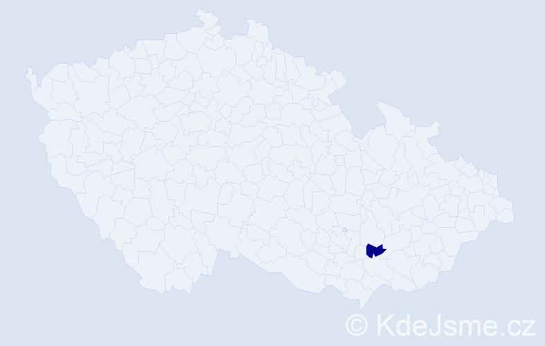 """Příjmení: '""""Červinková Vránová""""', počet výskytů 1 v celé ČR"""