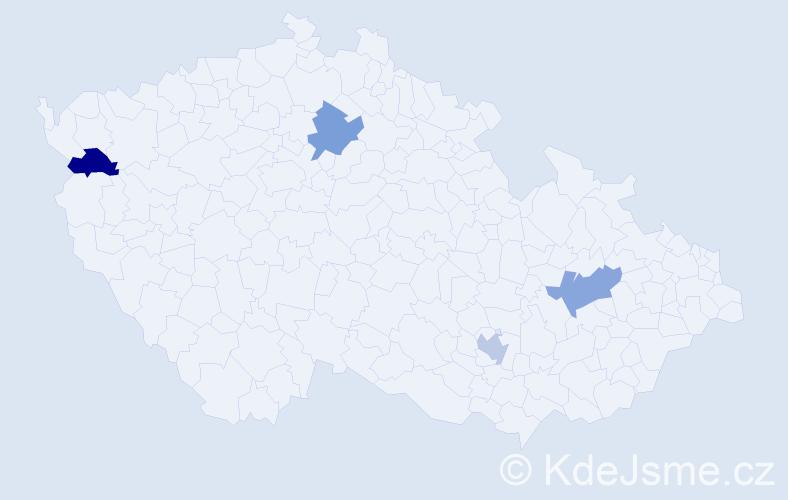 Příjmení: 'Engelbrechtová', počet výskytů 4 v celé ČR