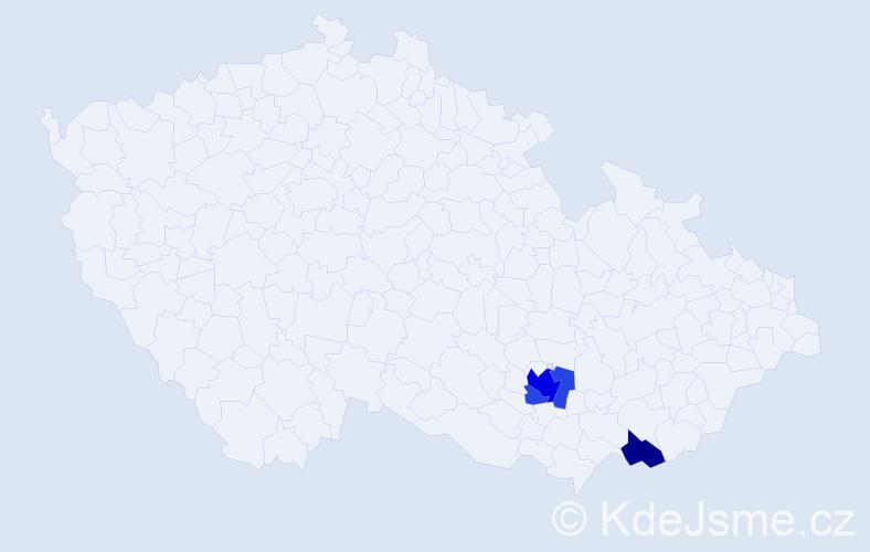 Příjmení: 'Kasimir', počet výskytů 7 v celé ČR