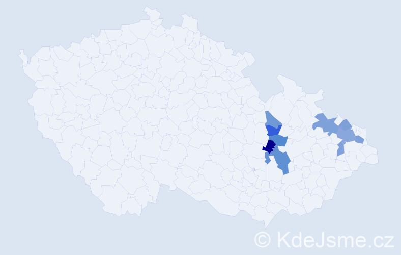 Příjmení: 'Loska', počet výskytů 17 v celé ČR