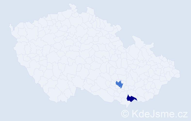 Příjmení: 'Grietschová', počet výskytů 3 v celé ČR
