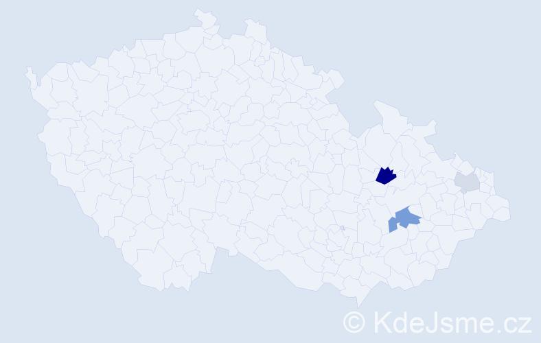 Příjmení: 'Garstková', počet výskytů 5 v celé ČR