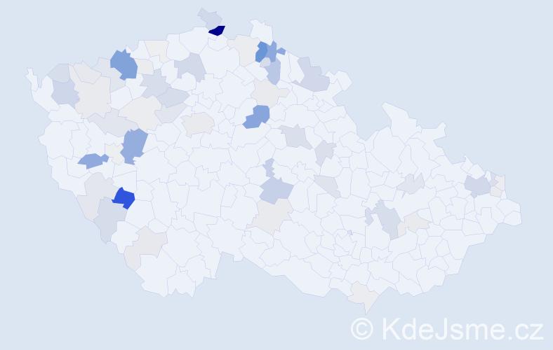 Příjmení: 'Godla', počet výskytů 246 v celé ČR