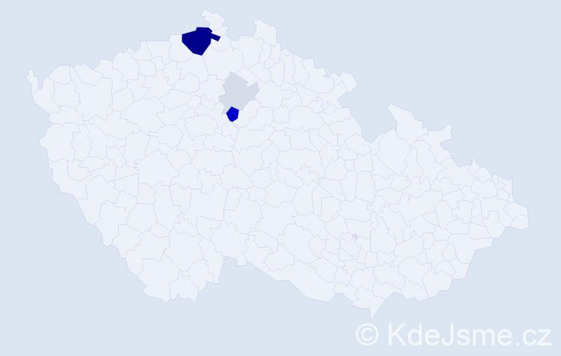 Příjmení: 'Keleši', počet výskytů 20 v celé ČR