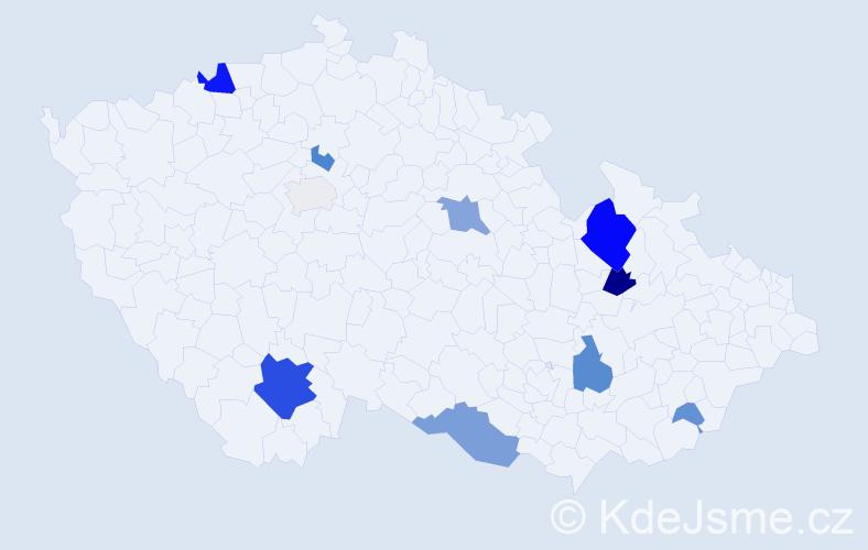Příjmení: 'Langmann', počet výskytů 36 v celé ČR