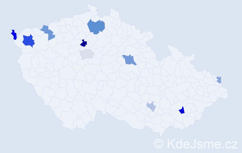 Příjmení: 'Madaras', počet výskytů 18 v celé ČR