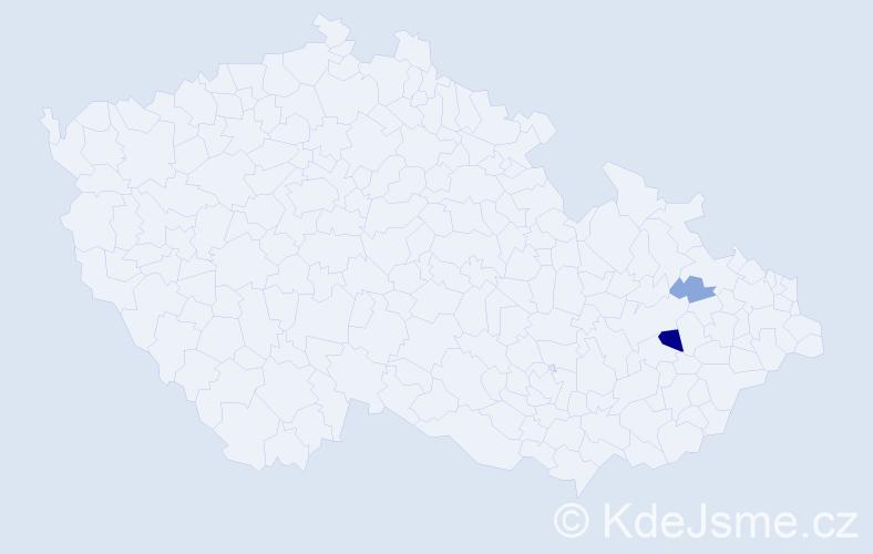Příjmení: 'Klepíková', počet výskytů 6 v celé ČR