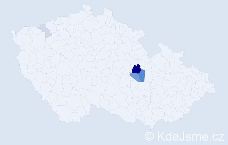 Příjmení: 'Kalánek', počet výskytů 17 v celé ČR