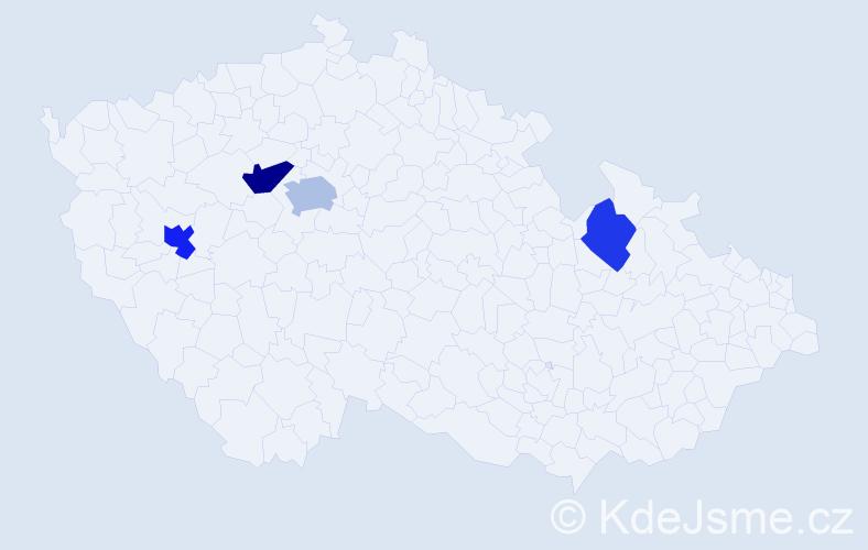 Příjmení: 'Guzmanová', počet výskytů 7 v celé ČR