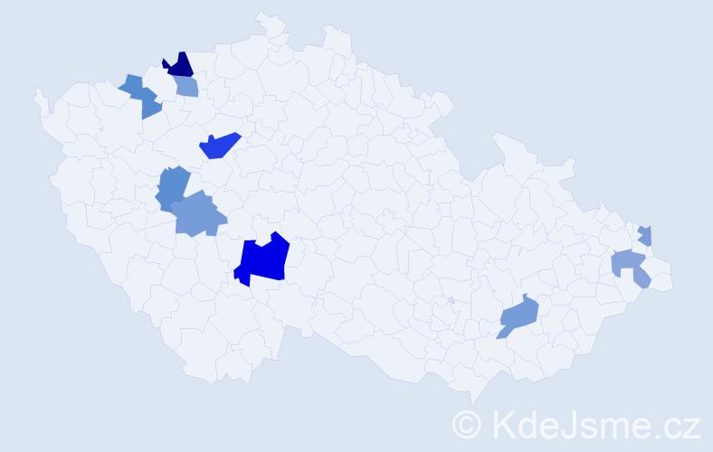 Příjmení: 'Filinová', počet výskytů 15 v celé ČR