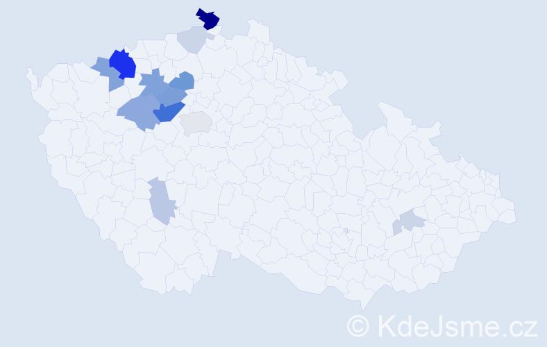 Příjmení: 'Humrová', počet výskytů 40 v celé ČR