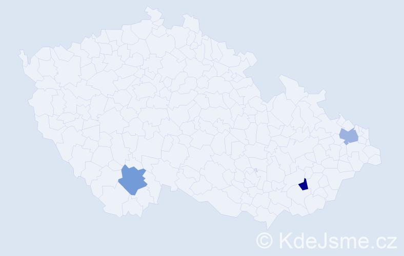 Příjmení: 'Buliš', počet výskytů 3 v celé ČR