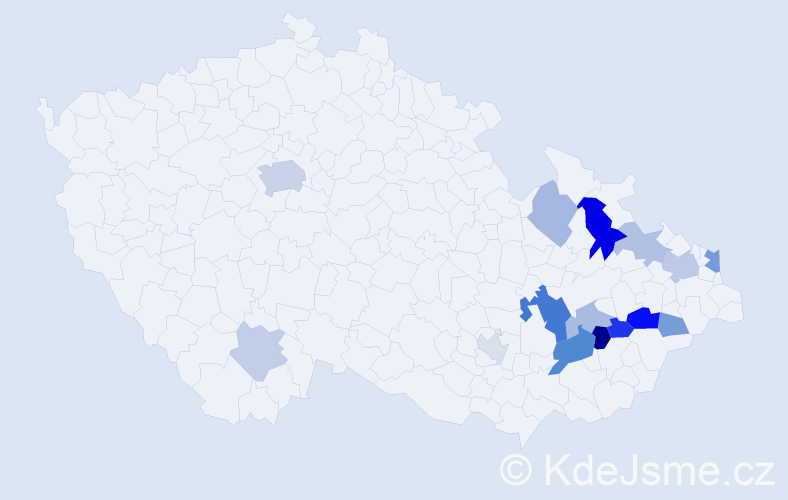 Příjmení: 'Hapka', počet výskytů 31 v celé ČR