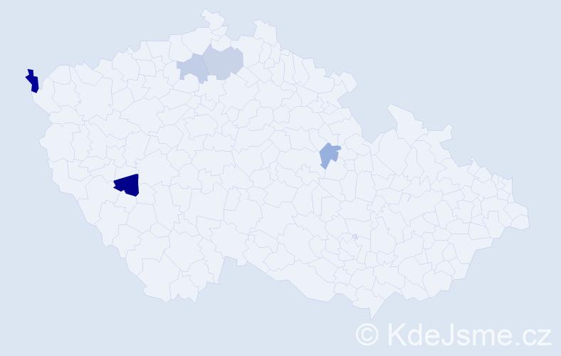 Příjmení: 'Ivanjuková', počet výskytů 8 v celé ČR