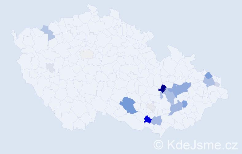 Příjmení: 'Grenová', počet výskytů 30 v celé ČR