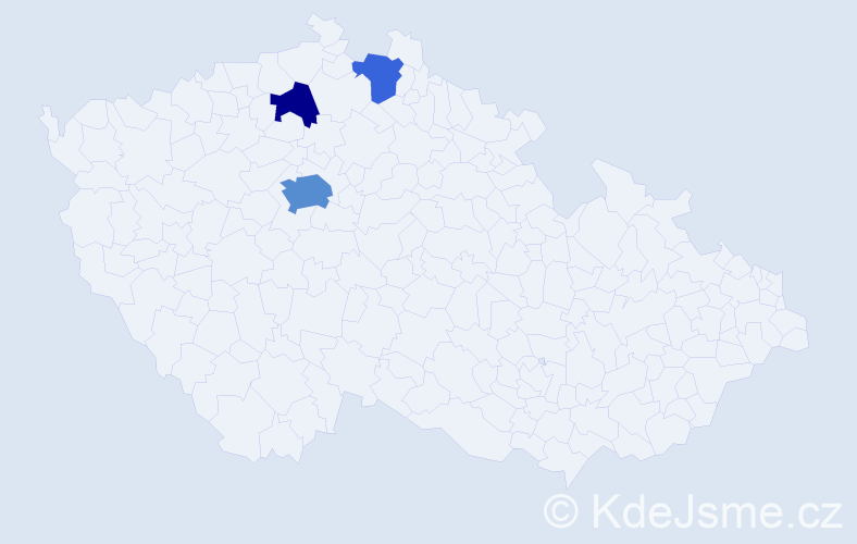 Příjmení: 'Habor', počet výskytů 7 v celé ČR