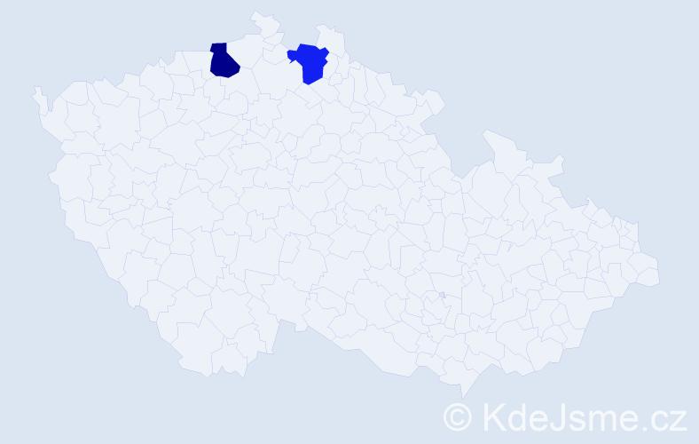 Příjmení: 'Guerrerová', počet výskytů 9 v celé ČR