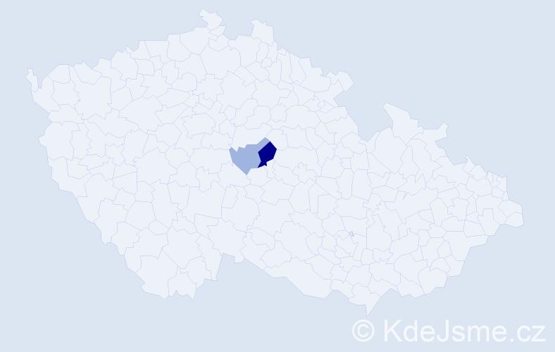 """Příjmení: '""""El Azazy""""', počet výskytů 4 v celé ČR"""