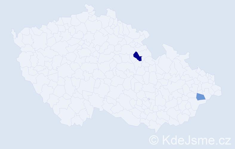 Příjmení: 'Dialog', počet výskytů 3 v celé ČR