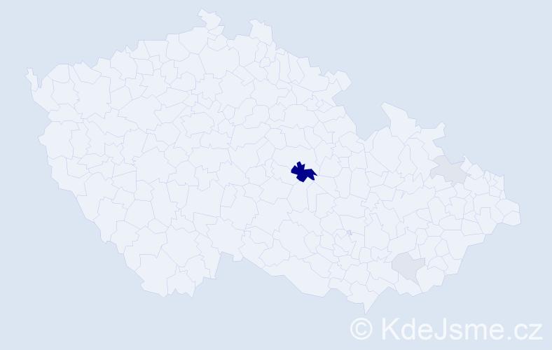 Příjmení: 'Hufnágel', počet výskytů 10 v celé ČR