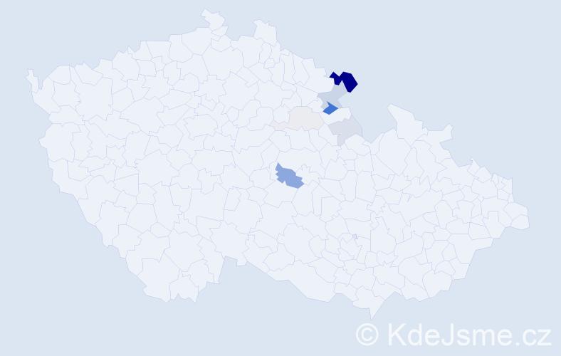 Příjmení: 'Kinlová', počet výskytů 24 v celé ČR