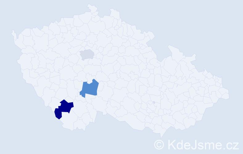 Příjmení: 'Herfurth', počet výskytů 3 v celé ČR