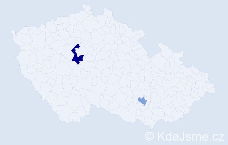 Příjmení: 'Crippa', počet výskytů 5 v celé ČR