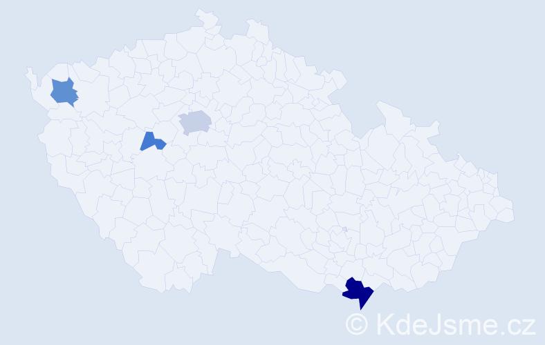 Příjmení: 'Leissová', počet výskytů 11 v celé ČR
