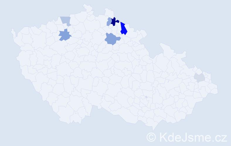 Příjmení: 'Esentier', počet výskytů 9 v celé ČR