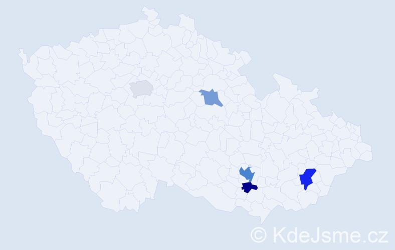 Příjmení: 'Gerichová', počet výskytů 9 v celé ČR
