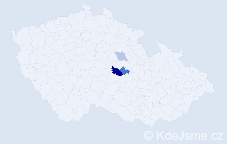 Příjmení: 'Gasslerová', počet výskytů 4 v celé ČR