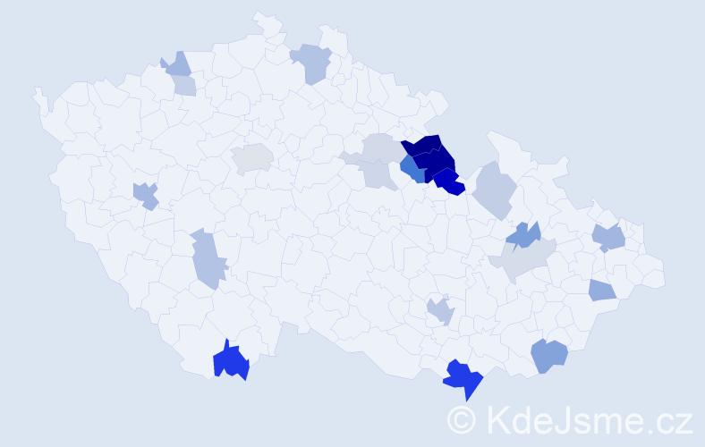 Příjmení: 'Boleček', počet výskytů 51 v celé ČR
