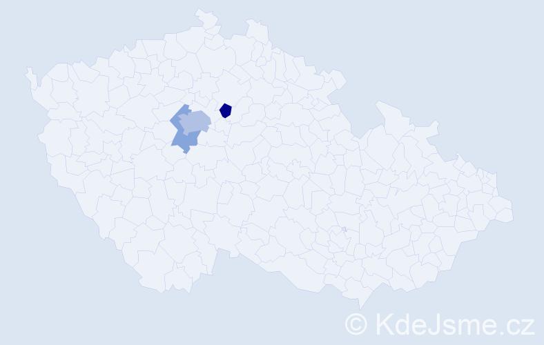 Příjmení: 'Gutweil', počet výskytů 6 v celé ČR