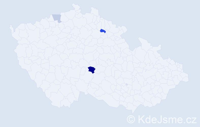 Příjmení: 'Lavryšynová', počet výskytů 4 v celé ČR