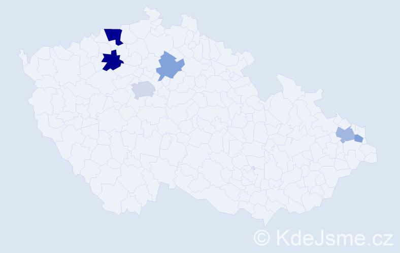 Příjmení: 'Butta', počet výskytů 23 v celé ČR