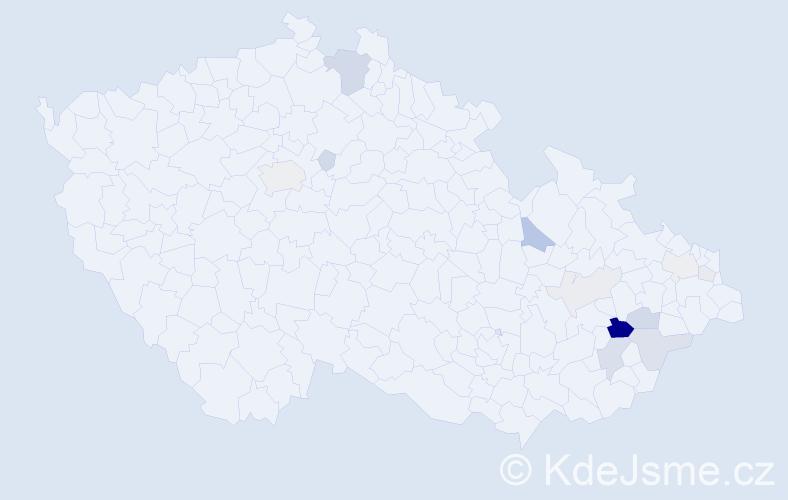 Příjmení: 'Halenčák', počet výskytů 35 v celé ČR