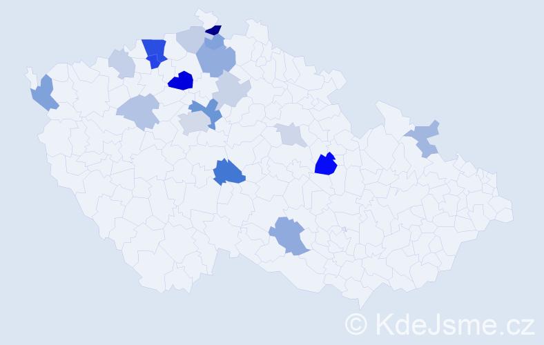 Příjmení: 'Quaiser', počet výskytů 45 v celé ČR
